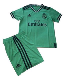 Jersey Real Madrid 3er Uniforme Conjunto Para Niños Verde