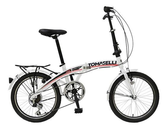 Bicicleta Plegable Folding Rodado 20 Shimano Cambios Varon Mujer Mountain Urbana Reforzada Garantia Envios Happy Buy