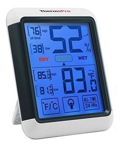 Imagen 1 de 8 de Termómetro Higrómetro Digital Thermopro Tp-55 Mide Humedad