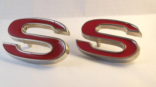 Par Emblema S Opala Ss Caravan Camaro Ss Chevelle Impala