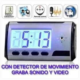 Imagen 1 de 6 de Micro Camara Espia Reloj Despertador Cctv Control Remoto Hd