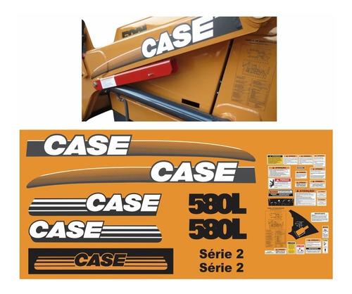 Kit Adesivo Retroescavadeira Case 580l Série 2 + Etiqueta Mk
