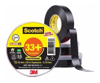 Fita Isolante 3m Scotch 33+ 19mm X 20 Metros Profissional