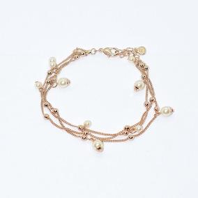 Pulsera Golden Chains Para Mujer Con Acabado Oro