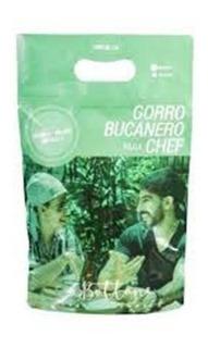 Gorro Bucanero Chef 3 Piezas Lisas+ 1 Pza Gratis Estampada