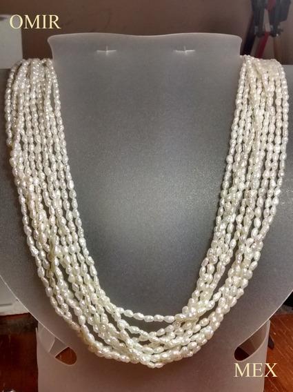Collar Con Perlas Oro 14k Largo