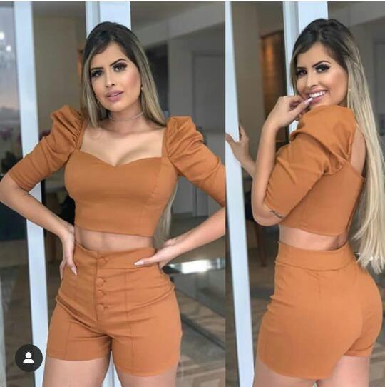 Conjunto De Shorts E Cropped
