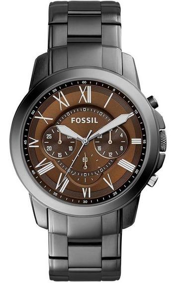 Relógio Fóssil Masculino Grant Clássico Grafite Fs5090/1mn