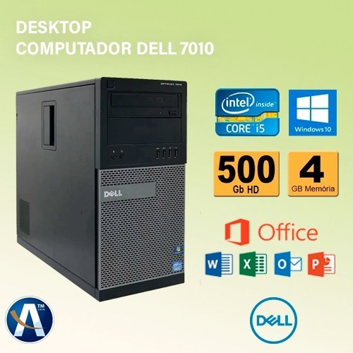 Desktop Computador Dell 7010 Core-i5 3° - 4gb Ram Hd 500gb