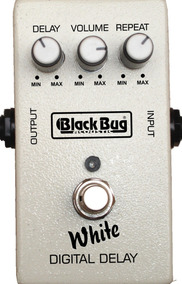 Pedal P/ Guitarra Black Bug White Digital Delay Twd
