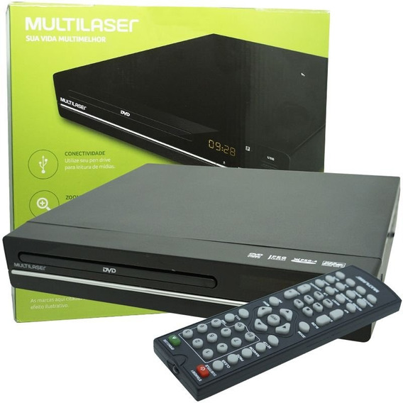 Aparelho Dvd Player Multilaser Rca 2.0 Mp3 Usb Ripping Cd