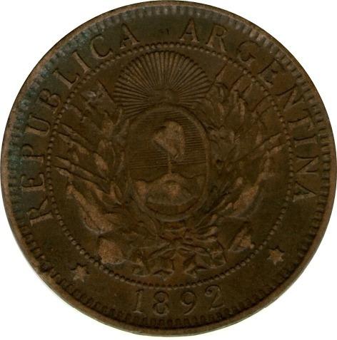 Spg Argentina 2 Centavos 1892