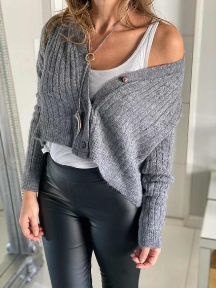 Sweater Saco Saquito Lana Con Botones Abrigo Mujer Invierno