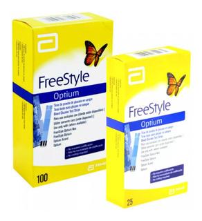 Freestyle Optium 100 + 25 Tiras Glicemia