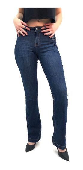 Calça Alvo Da Moda Flare Jeans Feminina