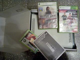 Xbox 360 Go Pro 120gb Excelente C/caja 2 Juegos No Play Sega