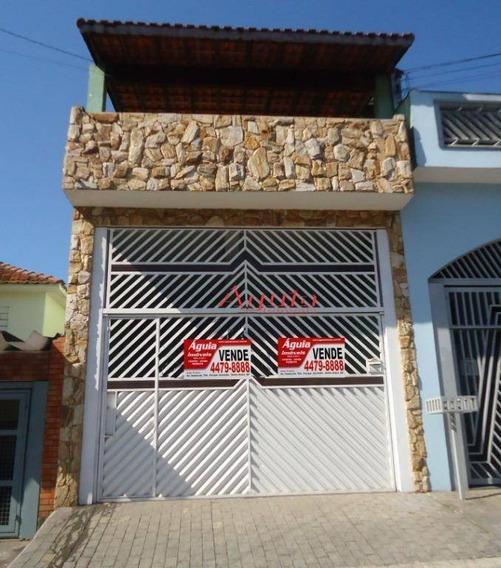 Sobrado Com 3 Dormitórios À Venda, 218 M² Por R$ 440.000,00 - Jardim Santo Alberto - Santo André/sp - So0830