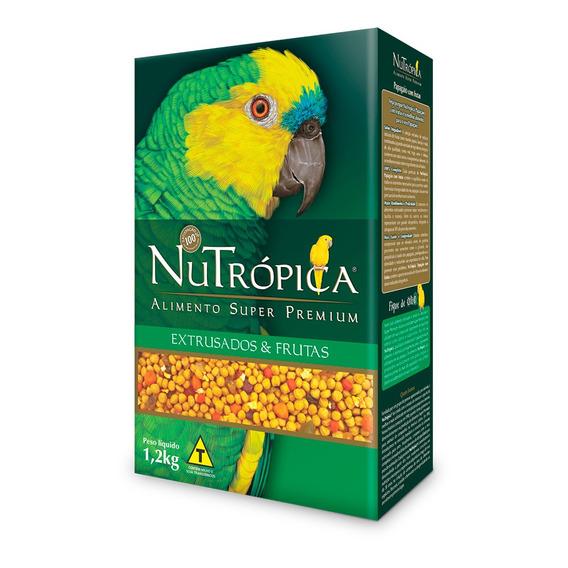 Ração Nutrópica Para Papagaio Sabor Frutas - 1,2kg