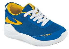 Tenis Sneaker Cklass Niños Textil Azul Rey 61409 Dtt