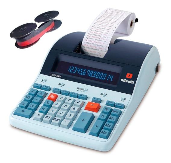 Calculadora De Mesa Logos 804b Olivetti De Fita Nylon