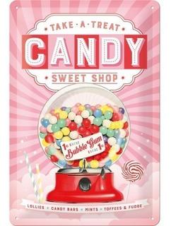 Cartel Nostalgic-art® Candy Sweet Shop