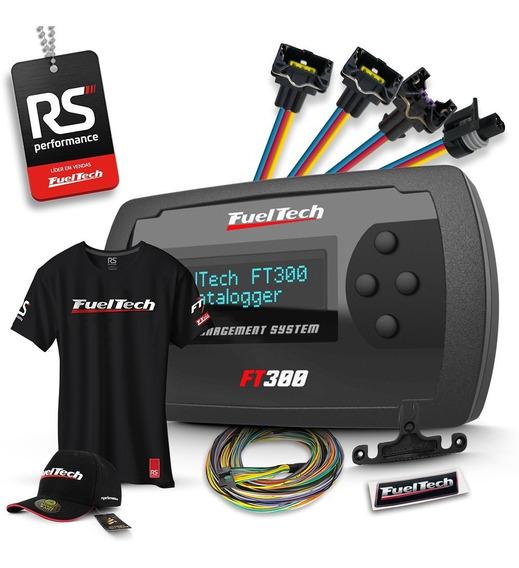 Fueltech Ft300 3 Metros + Brindes + Kit Chicote Gm 4 Bicos