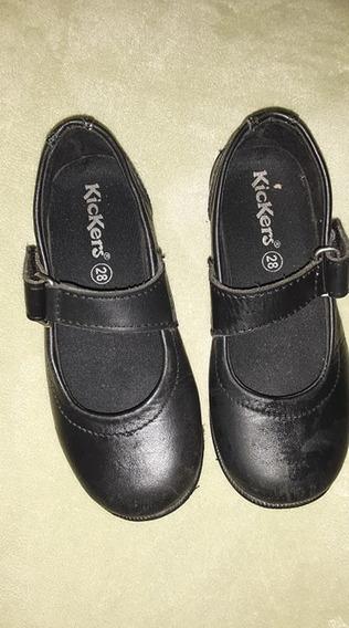 Zapatos Escolares De Niña Kickers Talla 28