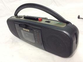 - Mini Rádio Boombox Aiwa Funciona Tudo - 90´s