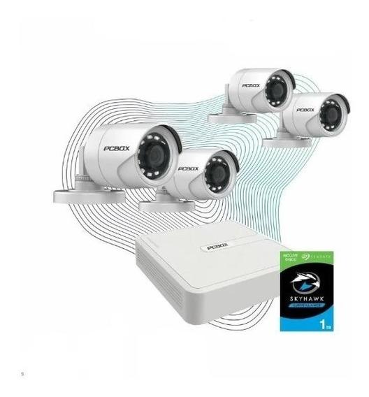 Cctv Kit Vigilancia Pcbox Look Pcb-4chkvn Dvr 4cam720p 1tb