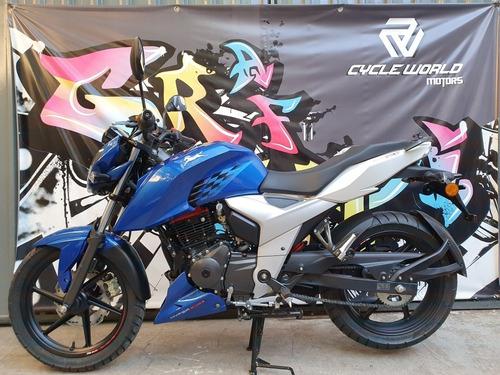 Tvs Rtr 160 Naked 17 Hp 2021 0km Azul  Cycle World  19/2