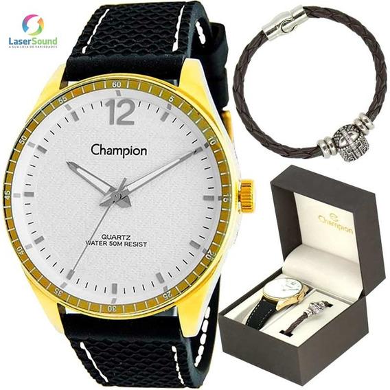 Relógio Champion Kit Masculino Ch30217e, C/garantia E Nf.