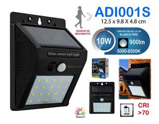 3pz Foco Lampara Solar Led Exterior Patio Sensor Movimientos