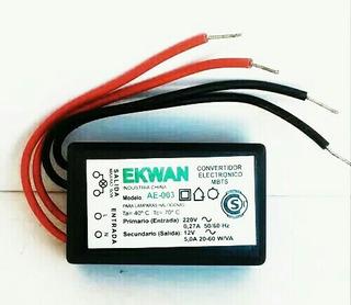 Convertidor Electrónico Mbts Para Lámparas Halógenas Ekwan