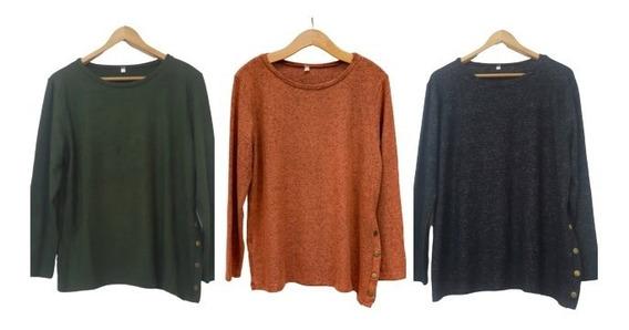 Sweater Lanilla Buzo Suave Mujer