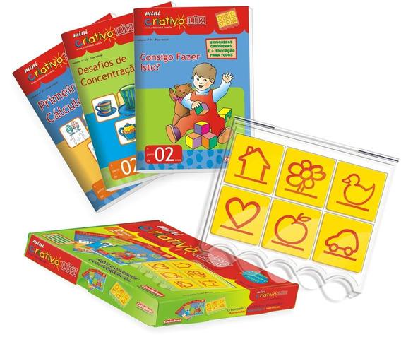 Kit Completo Mini Criativo Estojo E 5 Livros