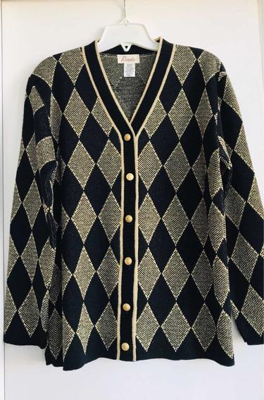 Saco Súper Diseño Y Calidad,negro Y Dorado Elegante Importa