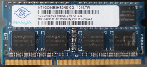 Memoria Nanya 4 Gb Ddr3 1.5v 1600mhz 2rx8 Pc3. Testeadas