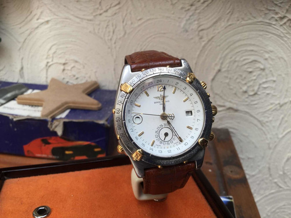Breitling Automatico Acero Y Oro De 18 Cronografo 21 Joyas