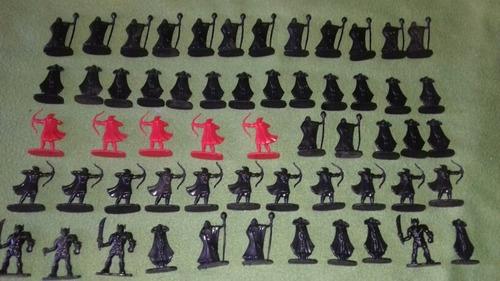 Lote 57 Soldaditos Arqueros/amos/princesa Juego Roll Figuras
