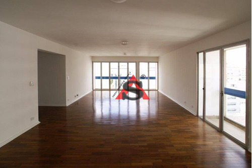 Apartamento Com 3 Dormitórios Para Alugar, 198 M² Por R$ 5.500,00/mês - Higienópolis - São Paulo/sp - Ap43809