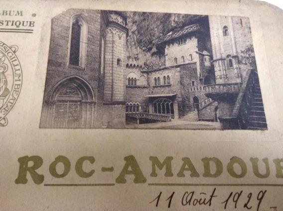 Album Tarjetas Postales Roc Amadour Francia Fotos Antiguas