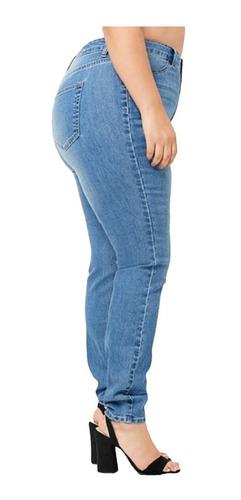 Pantalon Jean Mujer Forever 21 Plus Size Prelavado Tiro Alto Blackcloset Store