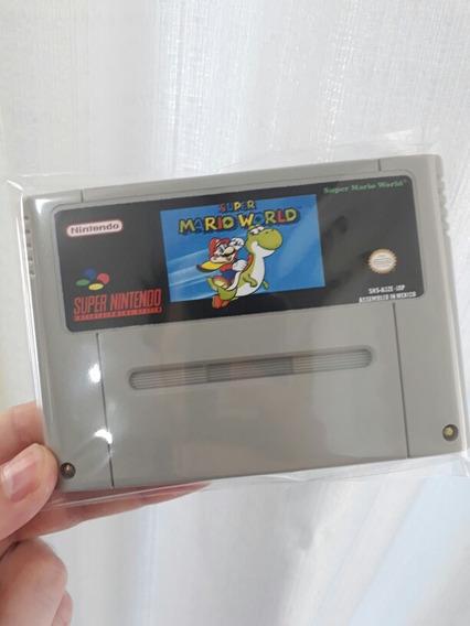 Fitas De Super Nintendo Super Mario World Salvando
