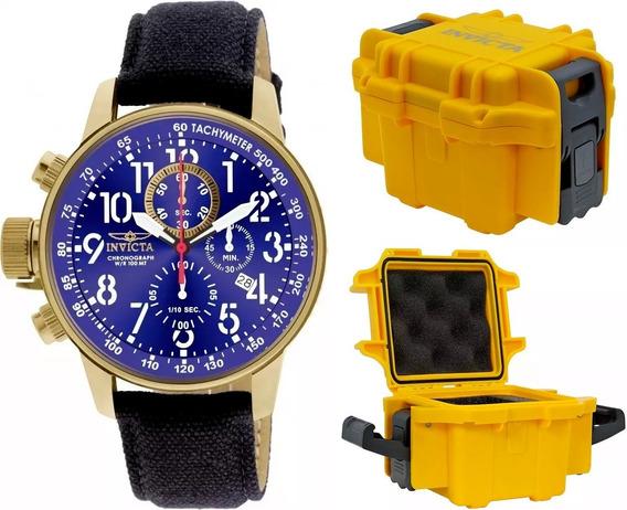 Relógio Invicta 1516 Masculino Banhado Ouro 18k Maleta