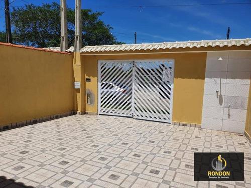 Casa Com 2 Dormitórios À Venda, 65 M² Por R$ 170.000 - Jardim Regina - Itanhaém/sp - Ca1316
