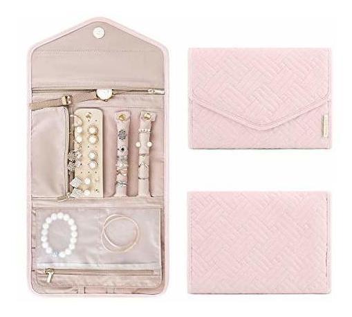 Organizador De Joyas De Viaje Bagsmart, Small, Light Pink
