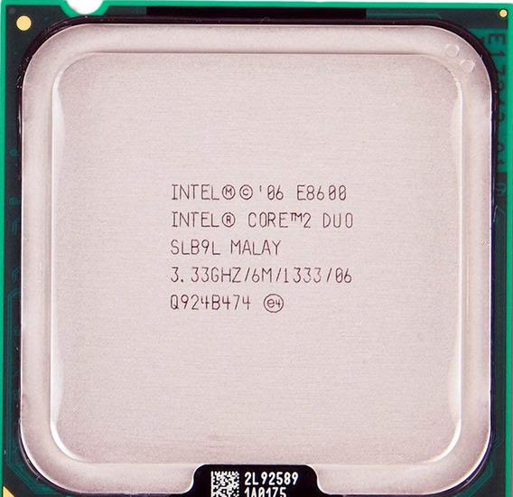 Processador Core 2 Duo E8600 3,33 Ghz + Pasta Térmica