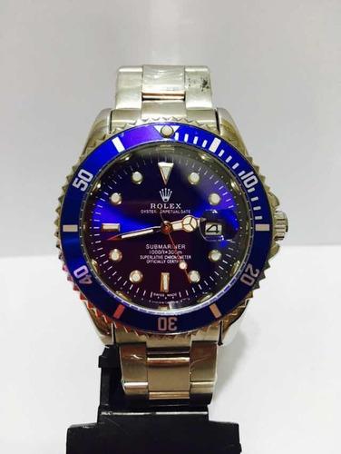 Relógio Em Aço Modelo Sub Silver Blue