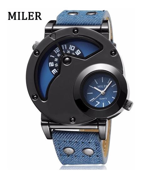 Relógio Masculino Miler A Pronta Entrega Estilo Militar