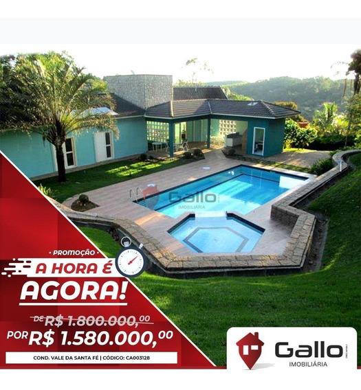 Casa À Venda Em Condomínio Vale Da Santa Fé - Ca003128